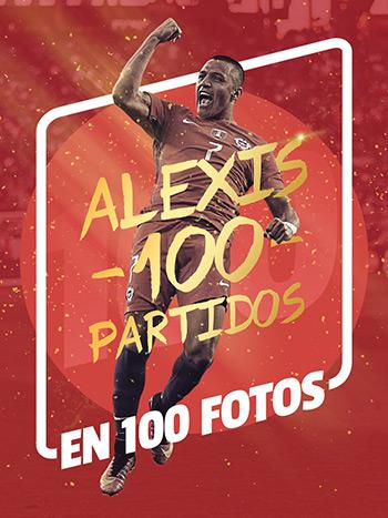 Alexis S�nchez 100 partidos en 100 fotos